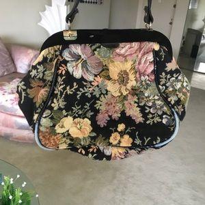 Vintage Boho Floral Embroidered Crossbody Bag